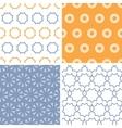 Four abstract arrows and circles motives seamless vector