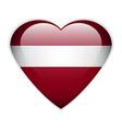 Latvia flag button vector