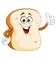 Bread slice cartoon vector