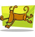 Cartoon doodle of running dog vector