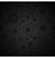 Black seamless snowflakes pattern vector