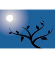 Tree in the night vector
