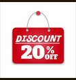 Sign board discount vector