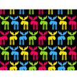 Seamless background with colored elks vector