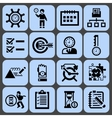 Time management icons black set vector