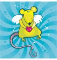 Valentine's day cupid rat vector