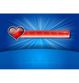 Heart cardiogram on the blue background vector