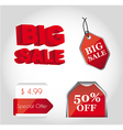Red tags vector