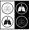 Lungs icons vector