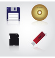 Data storage media types eps10 vector