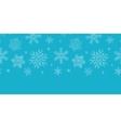 Blue lace snowflakes textile horizontal border vector