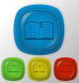 Open book education sign vector