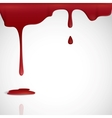 Dripping red blood vector