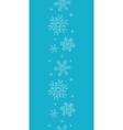 Blue lace snowflakes textile vertical border vector