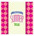 Summer postcard template design vector