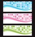 Set of wave background banner or header vector