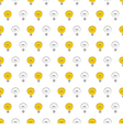 Seamless light bulbs pattern texture background vector
