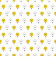 Seamless light bulbs pattern texture background vector