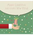 Stylized hand holding gift vector