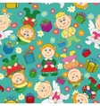 Seamless background kids with gifts and hearts vector