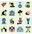 Circus icons set black vector