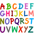 Colorful capital letters alphabet vector