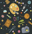 Seamless pattern with hobby tools vector