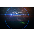 Abstract realistic space sunset background vector