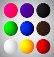 Colorful balls web button icon vector