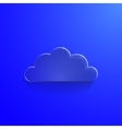 Blue eco glossy glass cloud icon vector