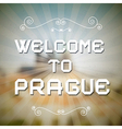 Welcome to prague paper title on retro background vector