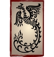 Chinese dragons silhouette - tattoo vector