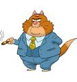 Fat cat boss vector