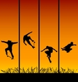 Skaters background vector