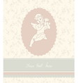 Background with angel in vintage style vector