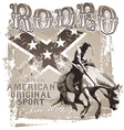 American original sport rodeo vector