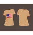 Usa flag t-shirt vector