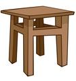 Cartoon home furniture chair vector