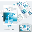 Elegant business brochure design vector