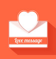 Valentine mail message with heart vector
