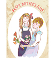 Happy mothers day vintage card vector