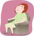 Woman sitting in a chair vector