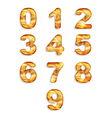 Numbers icon set with wood texture isolated vector