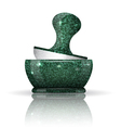 Stone mortar with reflection vector
