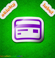Credit debit card icon sign symbol chic colored vector