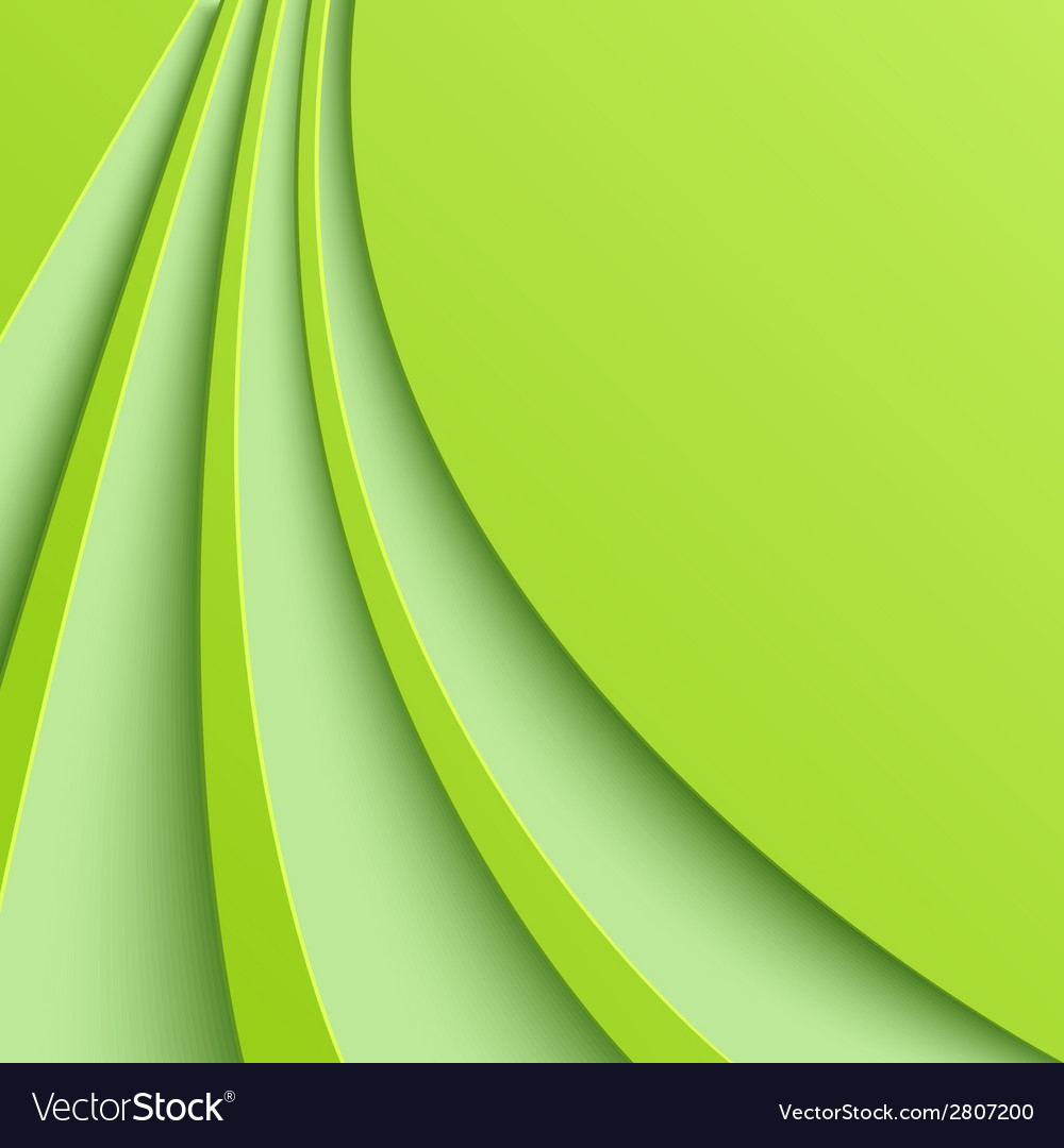 Abstract green background with curved lines vector   Price: 1 Credit (USD $1)