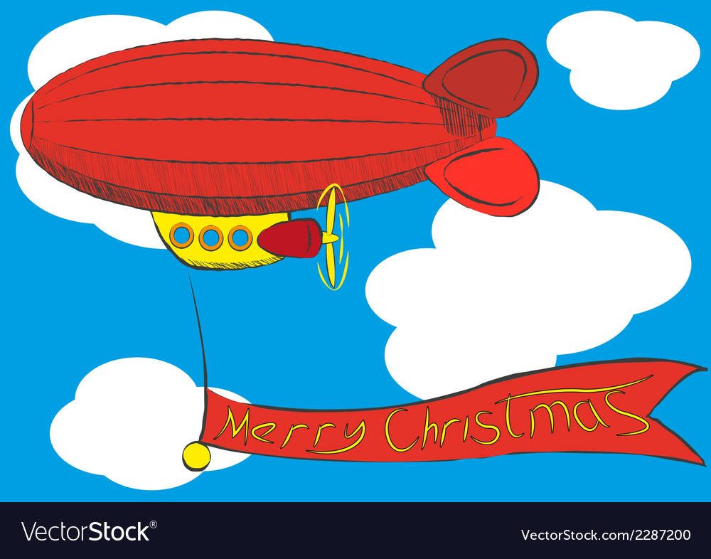 Airship vector | Price: 1 Credit (USD $1)