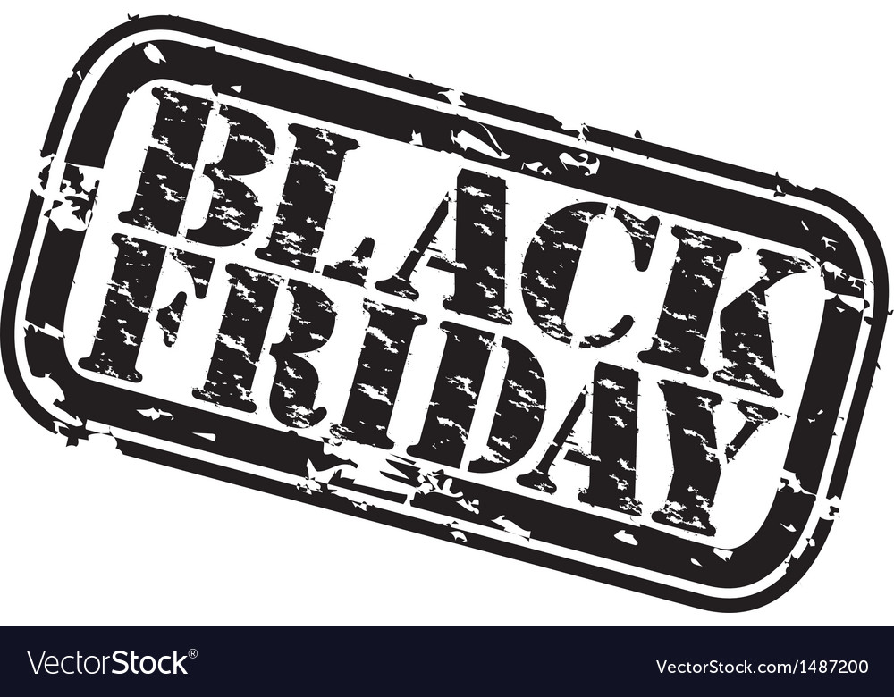 Black friday stamp vector | Price: 1 Credit (USD $1)