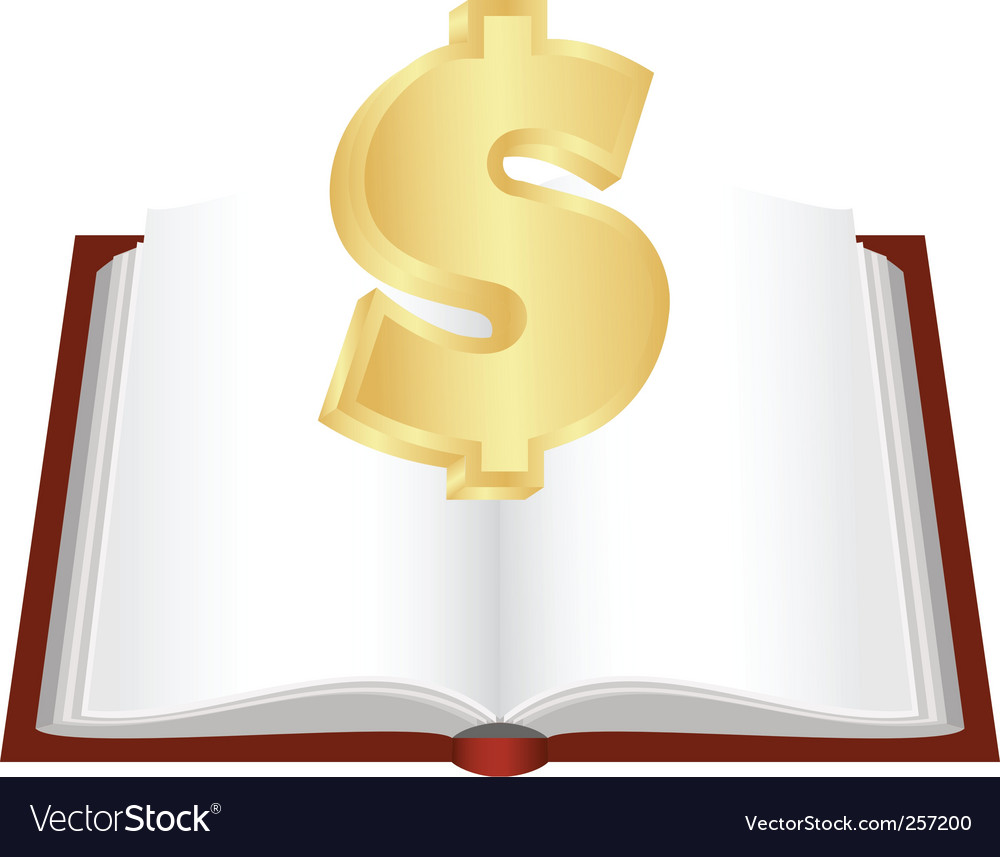 Cash book vector | Price: 1 Credit (USD $1)