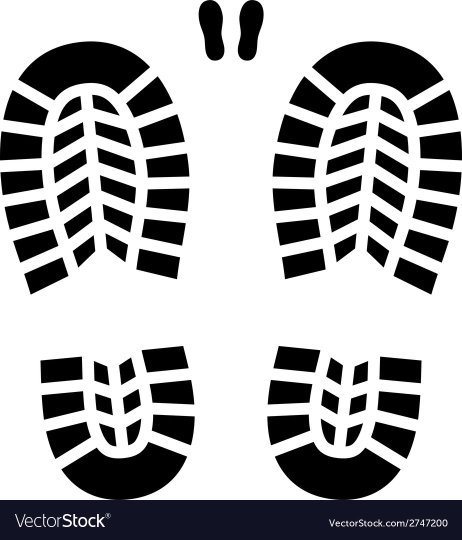 Clean shoe imprint vector | Price: 1 Credit (USD $1)